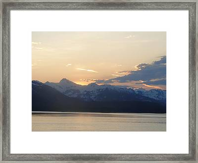 Colors Beyond The Sunset Framed Print by Cindy Croal