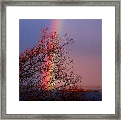 Colors From The Sky Framed Print