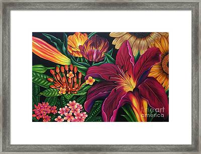Colors Garden Framed Print