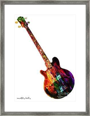 Colors Guitar  Framed Print