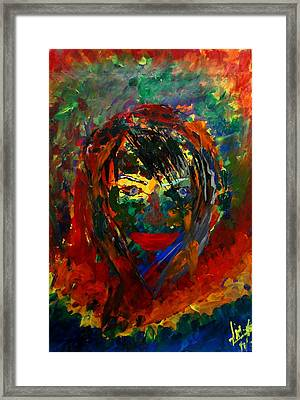 Colors In A Girls Life Framed Print by Aditya Ravi