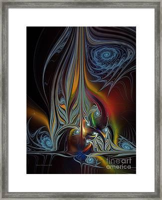 Colors In Motion-fractal Art Framed Print by Karin Kuhlmann