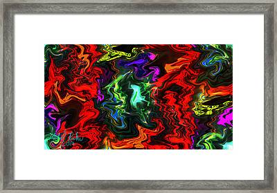 Colors In Motion Framed Print by Michael Rucker