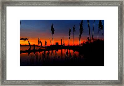 Colors In The Sky Framed Print by Stephen Melcher