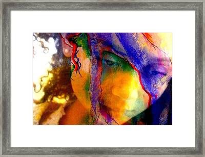 The Mask Framed Print by Jodie Marie Anne Richardson Traugott          aka jm-ART