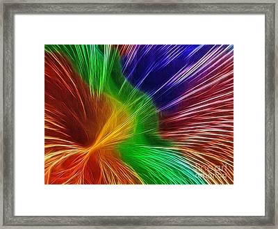 Colors Lines And Textures Framed Print by Kaye Menner