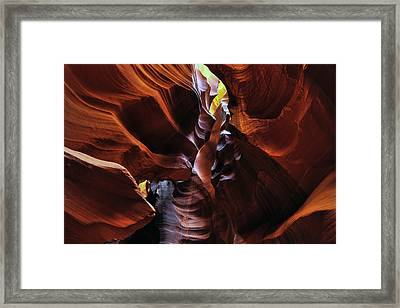 Framed Print featuring the photograph Colors Of Antelope Canyon by Dan Myers