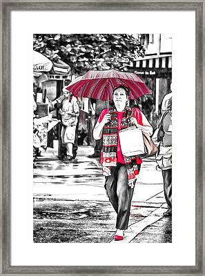 Colors Of Asheville Framed Print by John Haldane