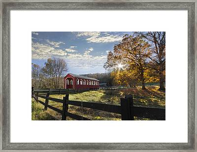 Colors Of Autumn Framed Print by Debra and Dave Vanderlaan