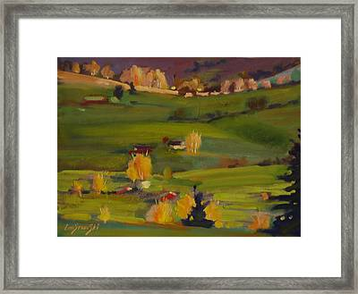 Framed Print featuring the painting Colors Of Autumn by Len Stomski