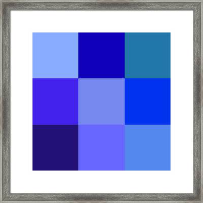 Colors Of Blue Framed Print by Karon Melillo DeVega