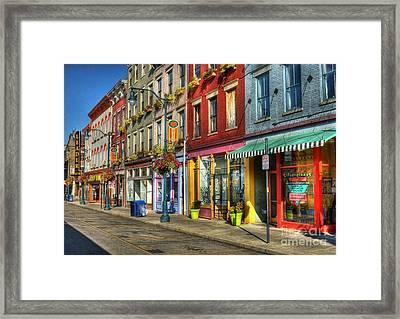 Colors Of Cincinnati Framed Print by Mel Steinhauer