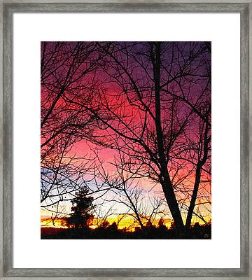 Colors Of Dusk Framed Print by Glenn McCarthy Art and Photography