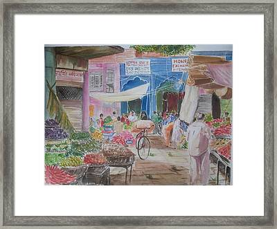 Colors Of Everyday Life Framed Print