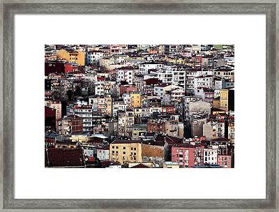 Colors Of Istanbul Framed Print by John Rizzuto