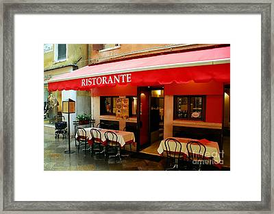 Colors Of Italy 4 Framed Print by Mel Steinhauer