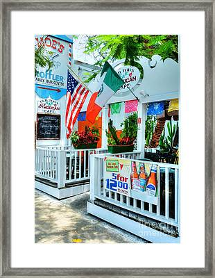 Colors Of Key West 2 Framed Print by Mel Steinhauer
