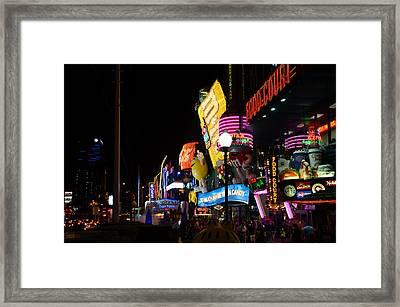 Colors Of Las Vegas Framed Print