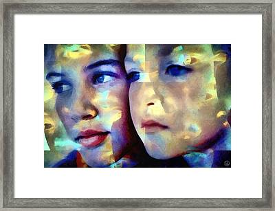 Colors Of Love Framed Print by Gun Legler