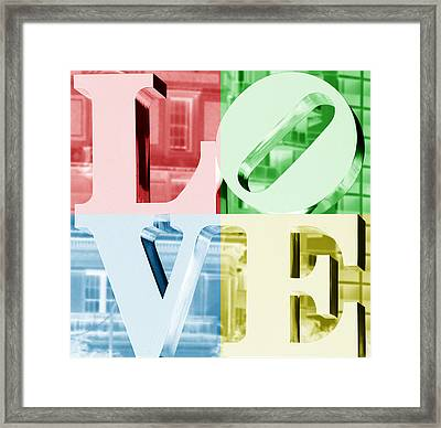 Colors Of Love Philadelphia Pa Framed Print