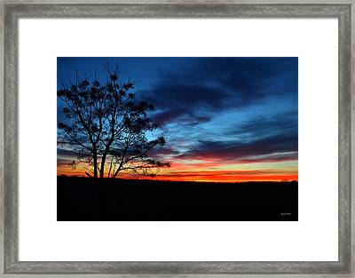 Colors Of Nature - Sunrise 001 Framed Print