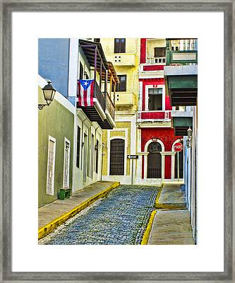 Colors Of Old San Juan Puerto Rico Framed Print by Carter Jones