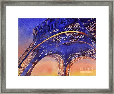 Colors Of Paris- Eiffel Tower Framed Print by Ryan Fox