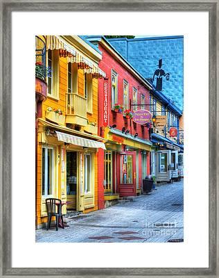 Colors Of Quebec 20 Framed Print by Mel Steinhauer