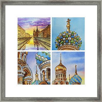 Colors Of Russia Church Of Our Savior On The Spilled Blood  Framed Print by Irina Sztukowski