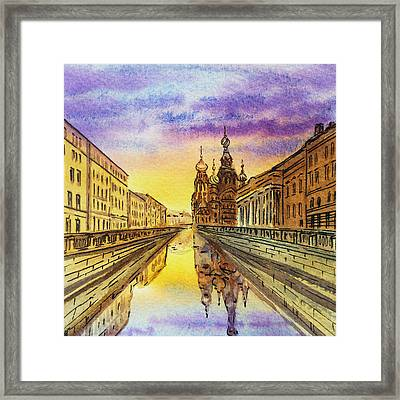 Colors Of Russia St Petersburg Cathedral I Framed Print