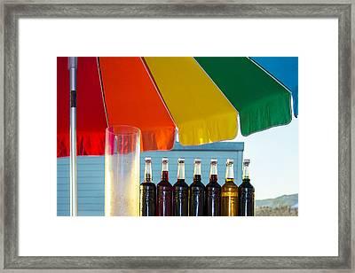 Colors Of Santa Monica Beach Framed Print by Ben and Raisa Gertsberg