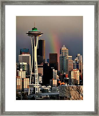 Colors Of Seattle Framed Print by Benjamin Yeager