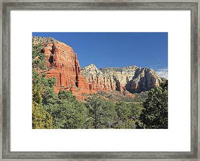 Framed Print featuring the photograph Colors Of Sedona by Penny Meyers