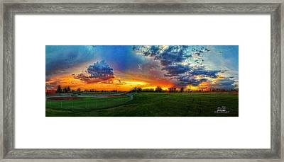 Colors Of Shadle Park Framed Print by Dan Quam