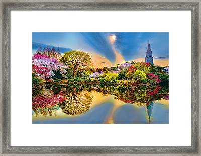 Colors Of Spring Framed Print by Midori Chan
