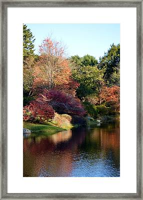Colors Of Still Waters Glow Framed Print by Lena Hatch