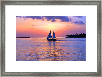 Colors Of Sunset Framed Print by Iryna Goodall
