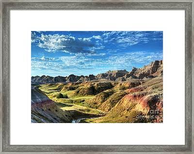 Colors Of The Badlands Framed Print