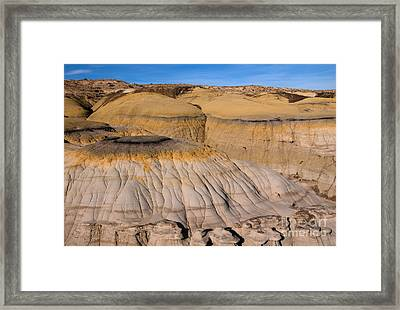 Colors Of The Badlands Framed Print by Vivian Christopher