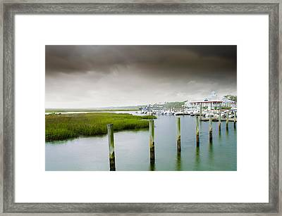 Framed Print featuring the photograph Colors Of The Coast by Steven Santamour