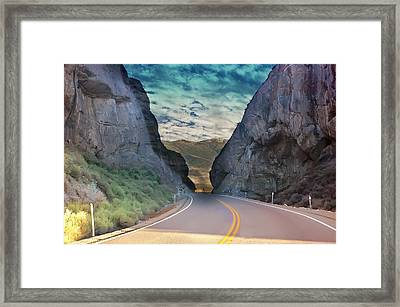 Colors Of The Desert Framed Print by Gunter Nezhoda