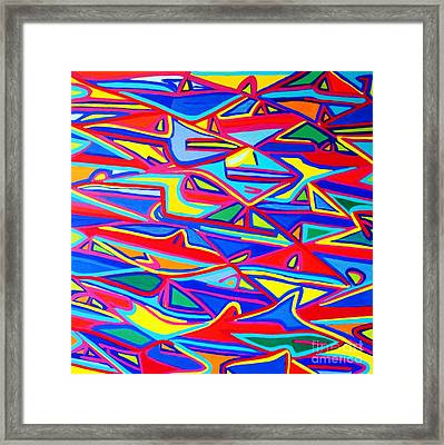 Colors Of The Fish Framed Print by Eunice Broderick