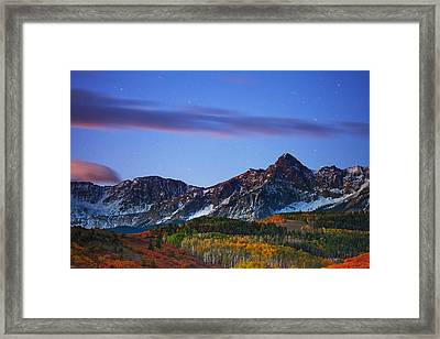 Colors Of The Night Framed Print by Darren  White