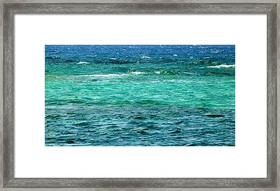 Colors Of The Sea  Framed Print by Amar Sheow