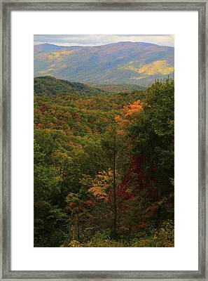 Colors Of The Smokies Framed Print by Dan Sproul