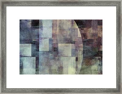 Colors Of Twilight Abstract Art Framed Print by Ann Powell