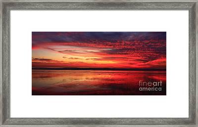 Encinitas Twilight Tide Framed Print