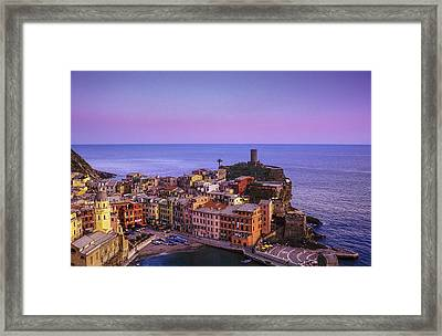 Colors Of Vernazza Framed Print by Andrew Soundarajan