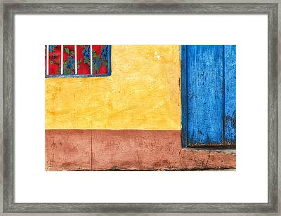 Colors Of Wall Framed Print