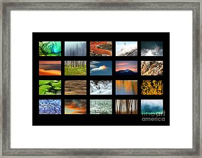 Framed Print featuring the photograph Colors Of Yellowstone by Clare VanderVeen